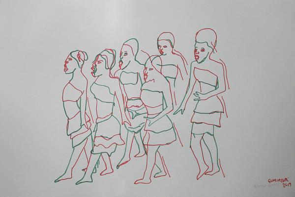 Painting - Acholi Traditional Dance Uganda by Gloria Ssali