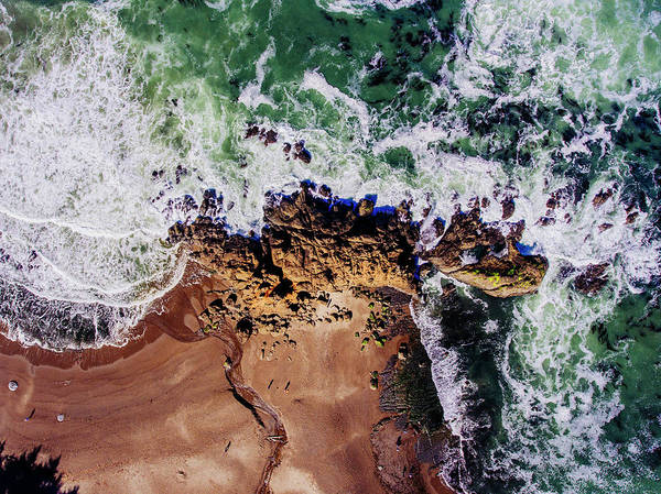Wall Art - Photograph - Aerial View Of The Beach, Newport by Panoramic Images