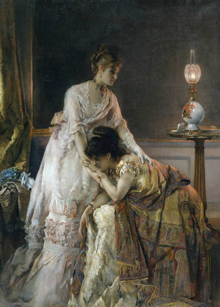 Wall Art - Painting - After The Ball by Alfred Stevens