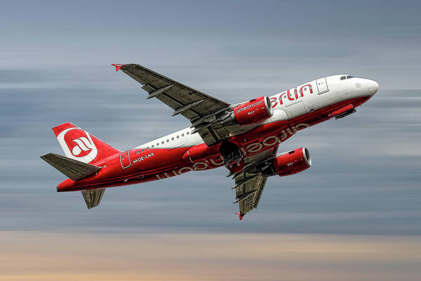 Wall Art - Mixed Media - Air Berlin Airbus A319-112 by Smart Aviation