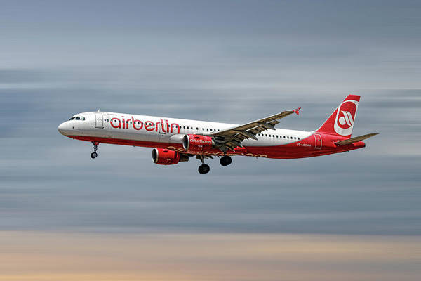 Wall Art - Mixed Media - Air Berlin Airbus A321-211 by Smart Aviation