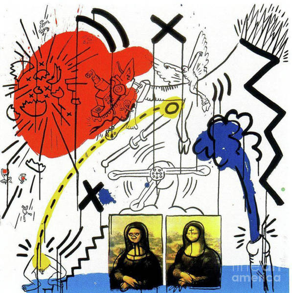Wall Art - Painting - Apocalypse 1988 by Haring