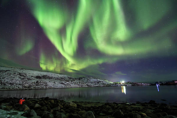 Wall Art - Photograph - Aurora Borealis Dances Above The Arctic by Jeff Dai