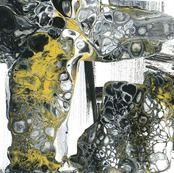 Painting - Black White And Gold Detail 1 by Angelika GAIGL