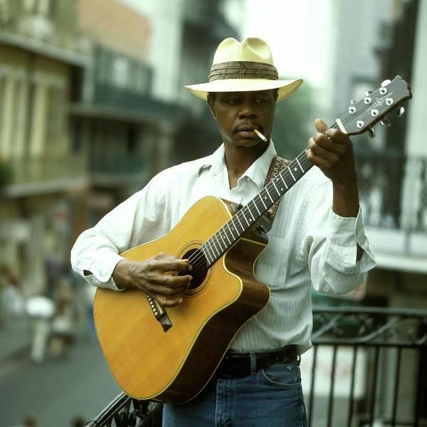 Guitarist Photograph - Blues Guitarist by David Redfern