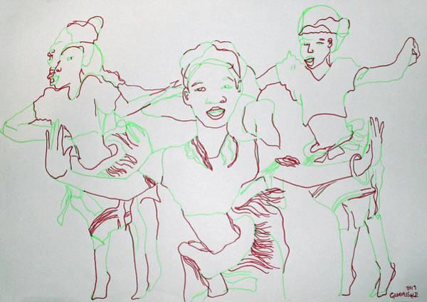 Painting - Busoga Dance Uganda by Gloria Ssali