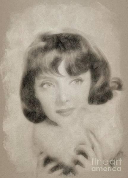 Wall Art - Drawing - Carolyn Jones, Vintage Actress by John Springfield