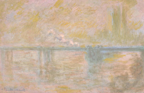 Smoke Fantasy Wall Art - Painting - Charing-cross Bridge In London -  by Claude Monet