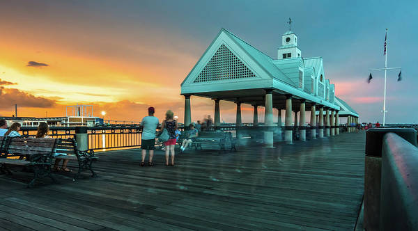 Photograph - Charleston South Carolina Harbor In The Evening by Alex Grichenko