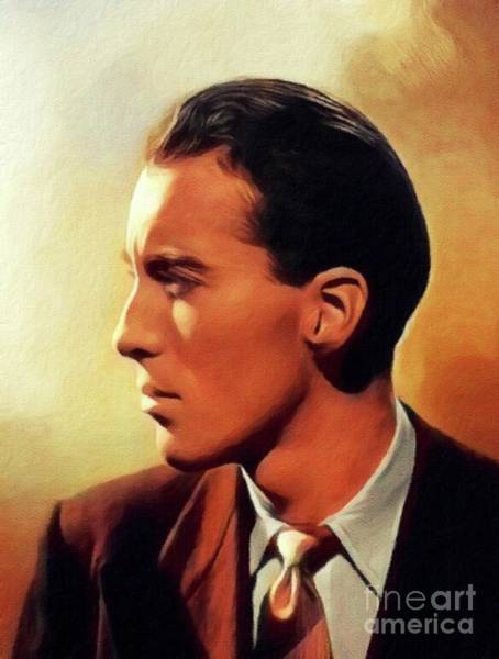 Wall Art - Painting - Christopher Lee, Vintage Actor by John Springfield
