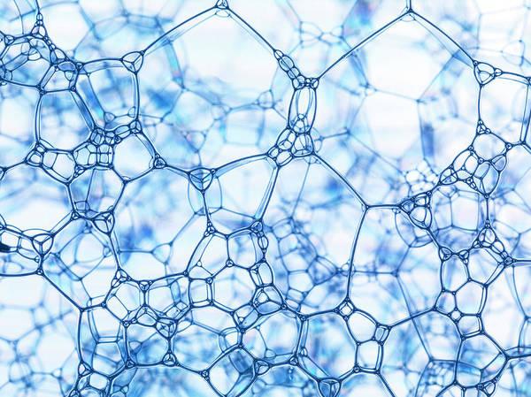 Bubble Photograph - Close Up Of Bubbles by Henrik Sorensen
