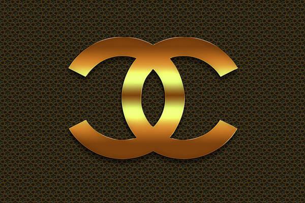 Wall Art - Digital Art - Coco Chanel. Logo by Chanel Logo