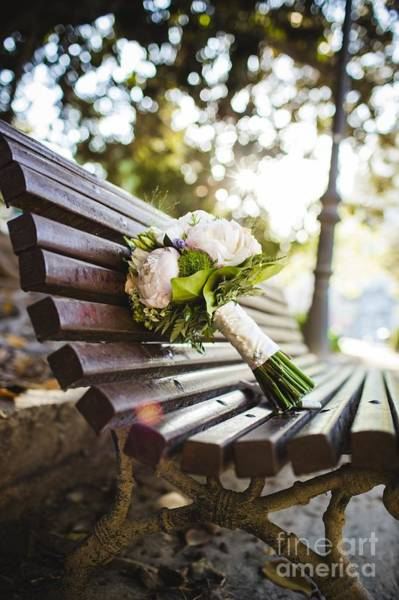 Photograph - Colorful Isolated Bridal Bouquet For A Wedding by Joaquin Corbalan