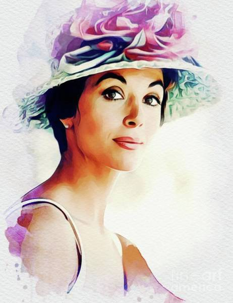 Wall Art - Painting - Dana Wynter, Vintage Actress by John Springfield