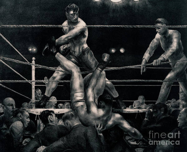Boxing Painting - Dempsey And Firpo by George Wesley Bellows