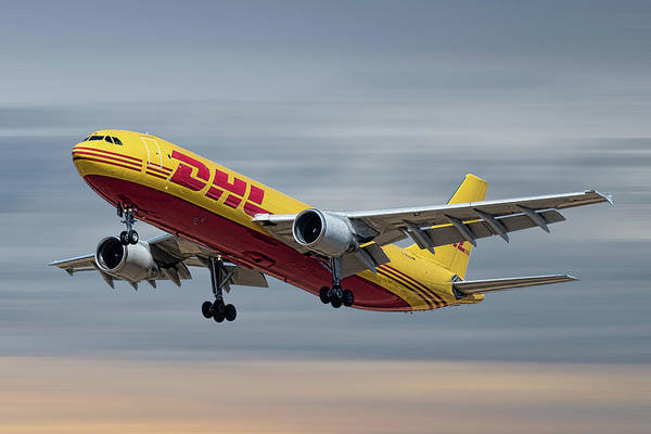Wall Art - Mixed Media - Dhl Airbus A300-f4 by Smart Aviation