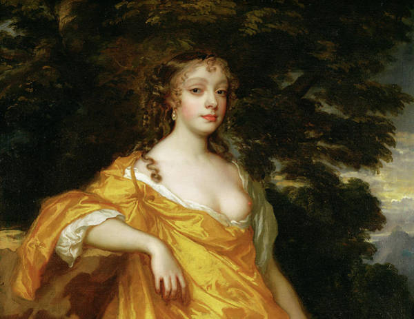 Daring Painting - Diana Kirke, Later Countess Of Oxford by Peter Lely