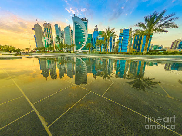 Photograph - Doha West Bay Skyline by Benny Marty