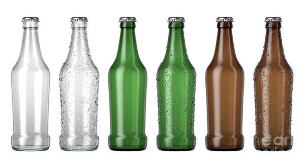 Wall Art - Digital Art - Empty Beer Bottle Color Range by Allan Swart