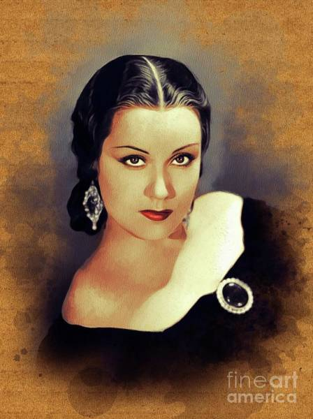 Wall Art - Painting - Fay Wray, Vintage Scream Queen by John Springfield