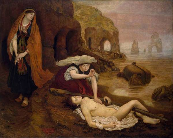 Wall Art - Painting - Finding Of Don Juan By Haidee by Ford Madox Brown