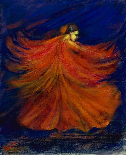 Wall Art - Painting - Flamenco Dancer by Asha Sudhaker Shenoy