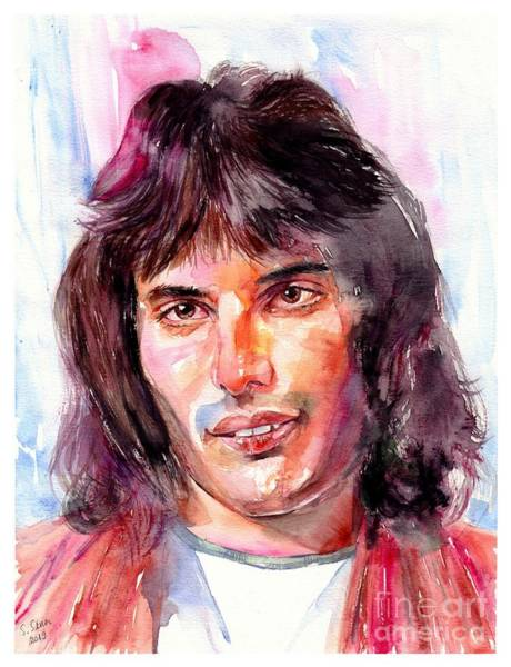 Music City Painting - Freddie Mercury Portrait by Suzann Sines