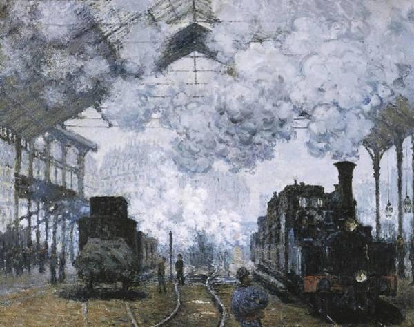 Gare Painting - Gare Saint Lazare  by Claude Monet