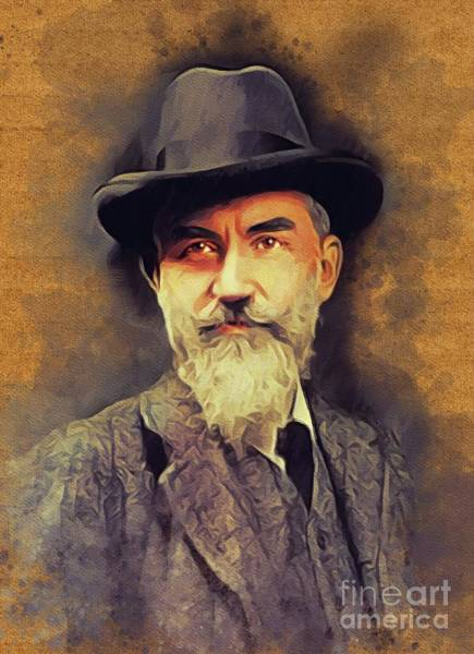 Wall Art - Painting - George Bernard Shaw, Literary Legend by John Springfield