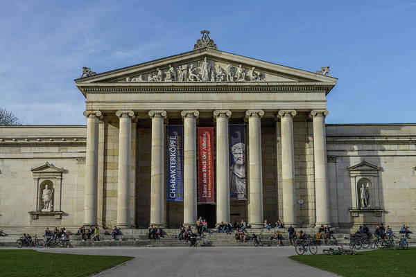Wall Art - Photograph - Glyptothek Koenigsplatz Munich Bavaria Germany by imageBROKER - Joko
