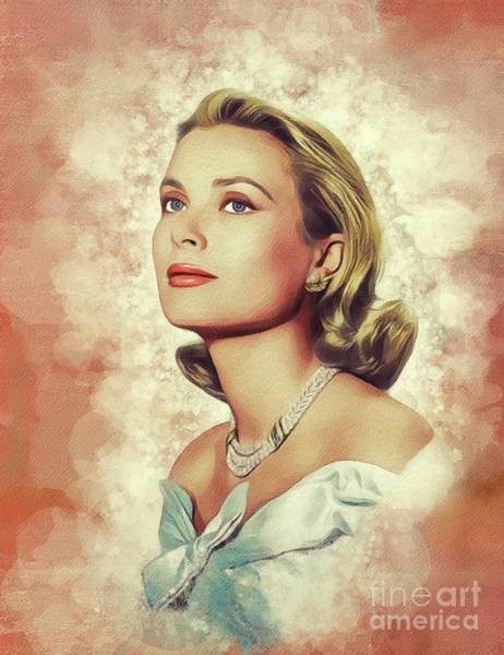 Wall Art - Painting - Grace Kelly, Vintage Actress by John Springfield