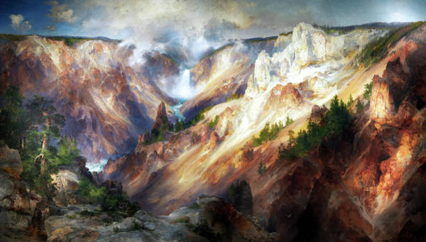 Wall Art - Painting - Grand Canyon Of The Yellowstone by Thomas Moran