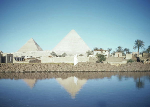 Photograph - Great Pyramid Of Giza by Michael Ochs Archives