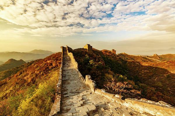 Great Wall Of China And Jinshanling Art Print by Adam Jones