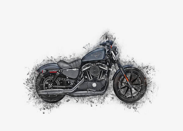 Digital Art - Harley Davidson by Ian Mitchell