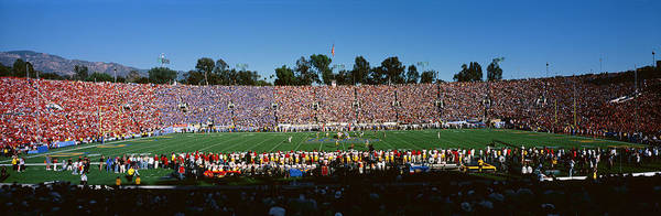Rose Bowl Photograph - High Angle View Of Spectators by Panoramic Images