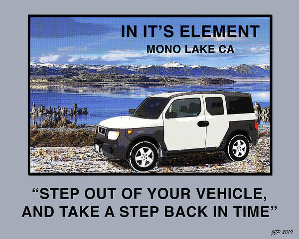 South Lake Digital Art - Honda Element by Joe  Palermo
