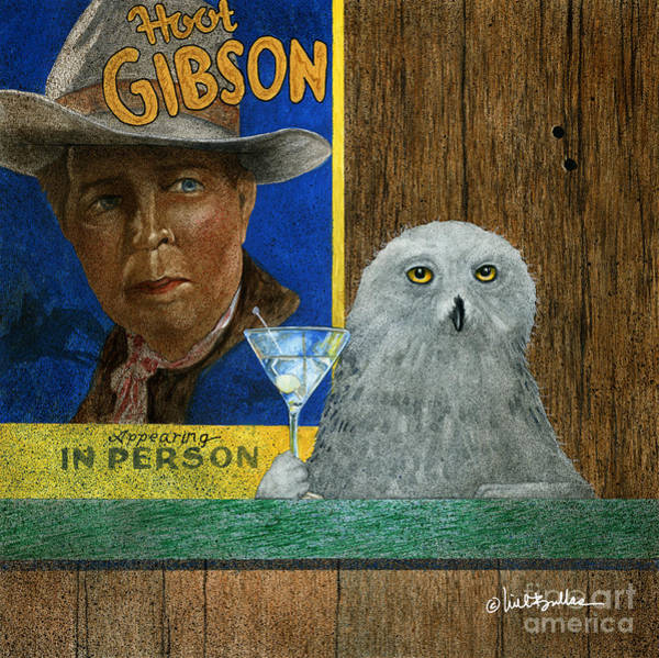 Wall Art - Painting - Hoot Gibson... by Will Bullas