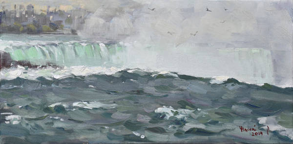 Wall Art - Painting - Horseshoe Falls by Ylli Haruni