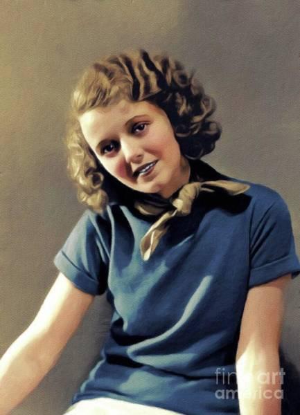 Wall Art - Painting - Janet Gaynor, Vintage Movie Star by John Springfield