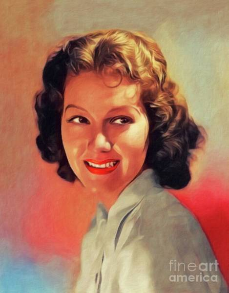 Wall Art - Painting - Jean Parker, Vintage Actress by John Springfield