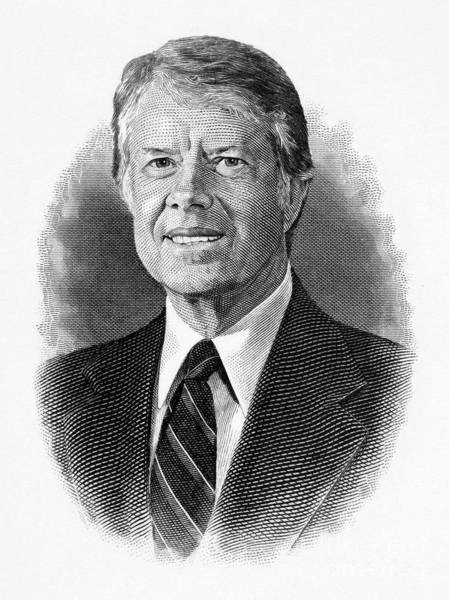 Drawing - Jimmy Carter by Granger