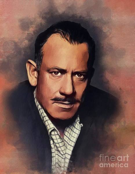Wall Art - Painting - John Steinbeck, Literary Legend by John Springfield
