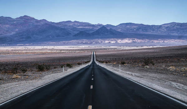 Photograph - Lonely Empty Road To Deth Valley National Park by Alex Grichenko