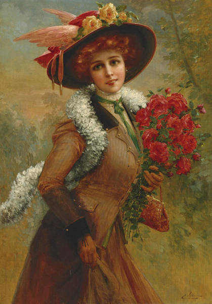 Wall Art - Painting - Lovely As A Rose by Emile Vernon