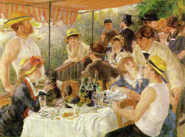 Painting - Luncheon Of The Boating Party by Auguste Renoir