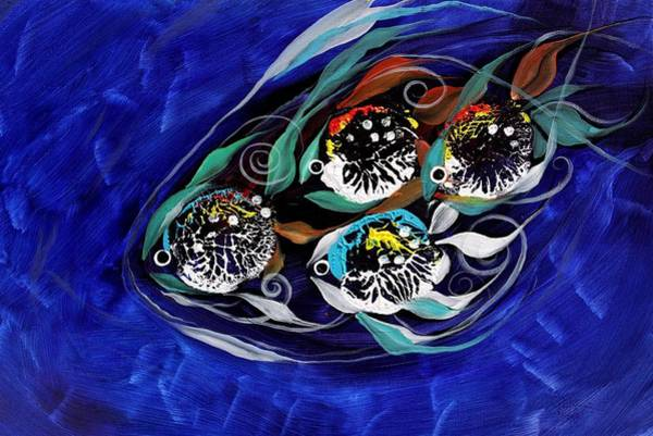 Painting - 4 Makes 5, Family Fish by J Vincent Scarpace