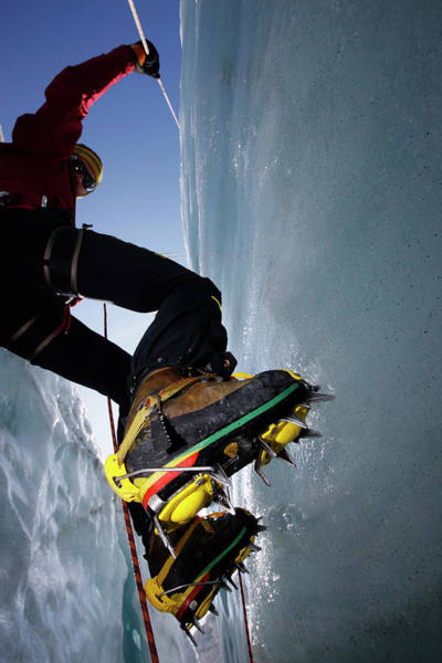 Climbing Photograph - Man Ice Climbing, Pasterze Glacier by Jan Greune / Look-foto