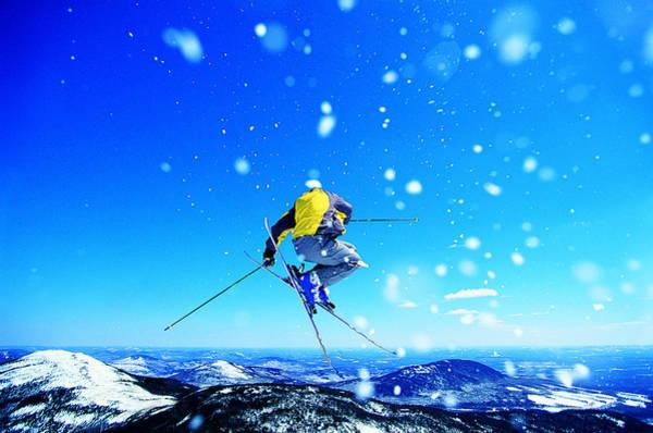 Photograph - Man Skiing by Digital Vision.