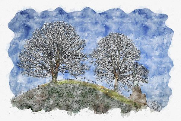 Wall Art - Digital Art - Nature #watercolor #sketch #nature #tree by TintoDesigns
